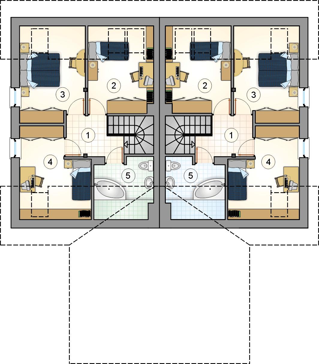 Rzut poddasza - projekt Duet