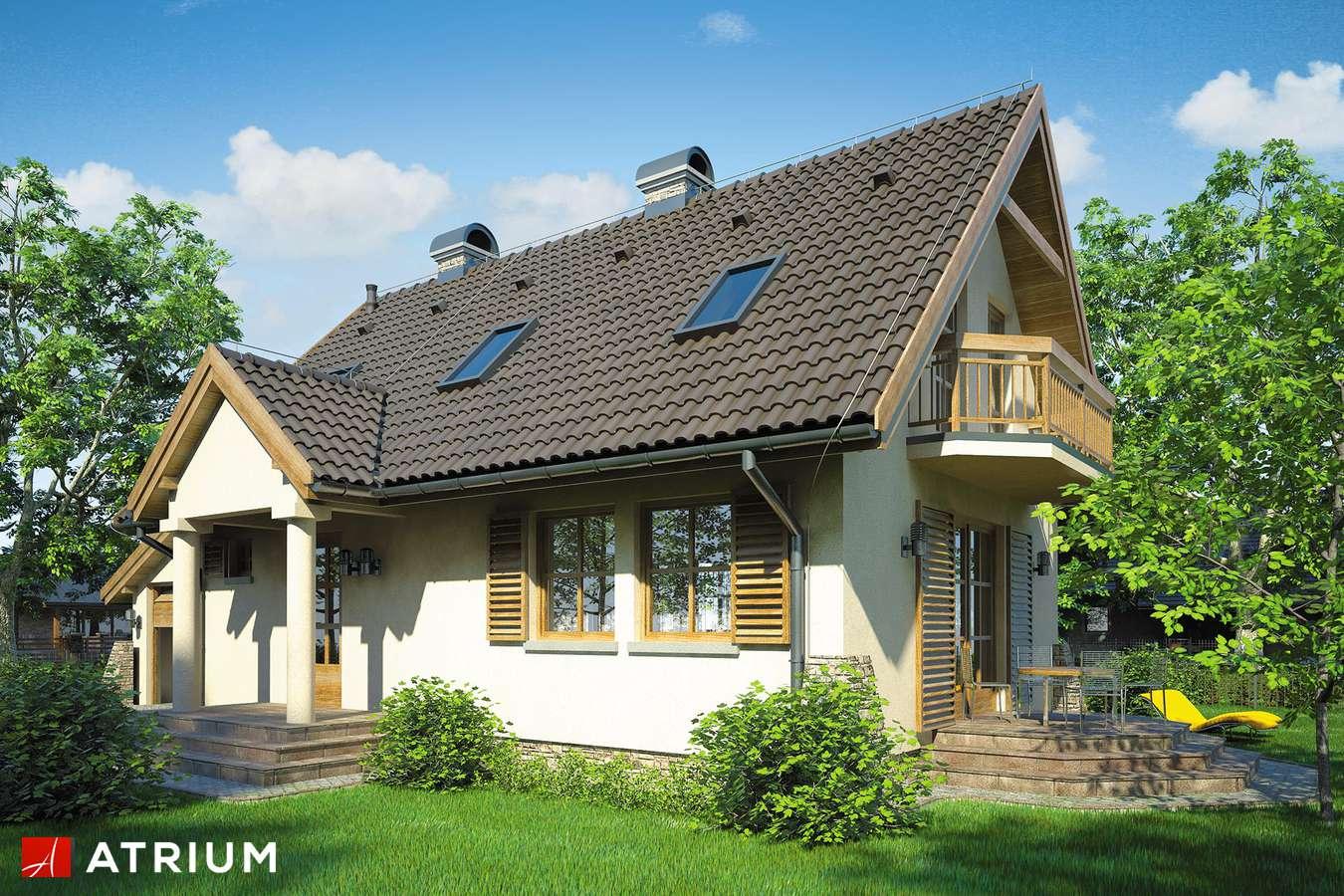 Projekty domów - Projekt domu z poddaszem OLIWIA - wizualizacja 1 - wersja lustrzana