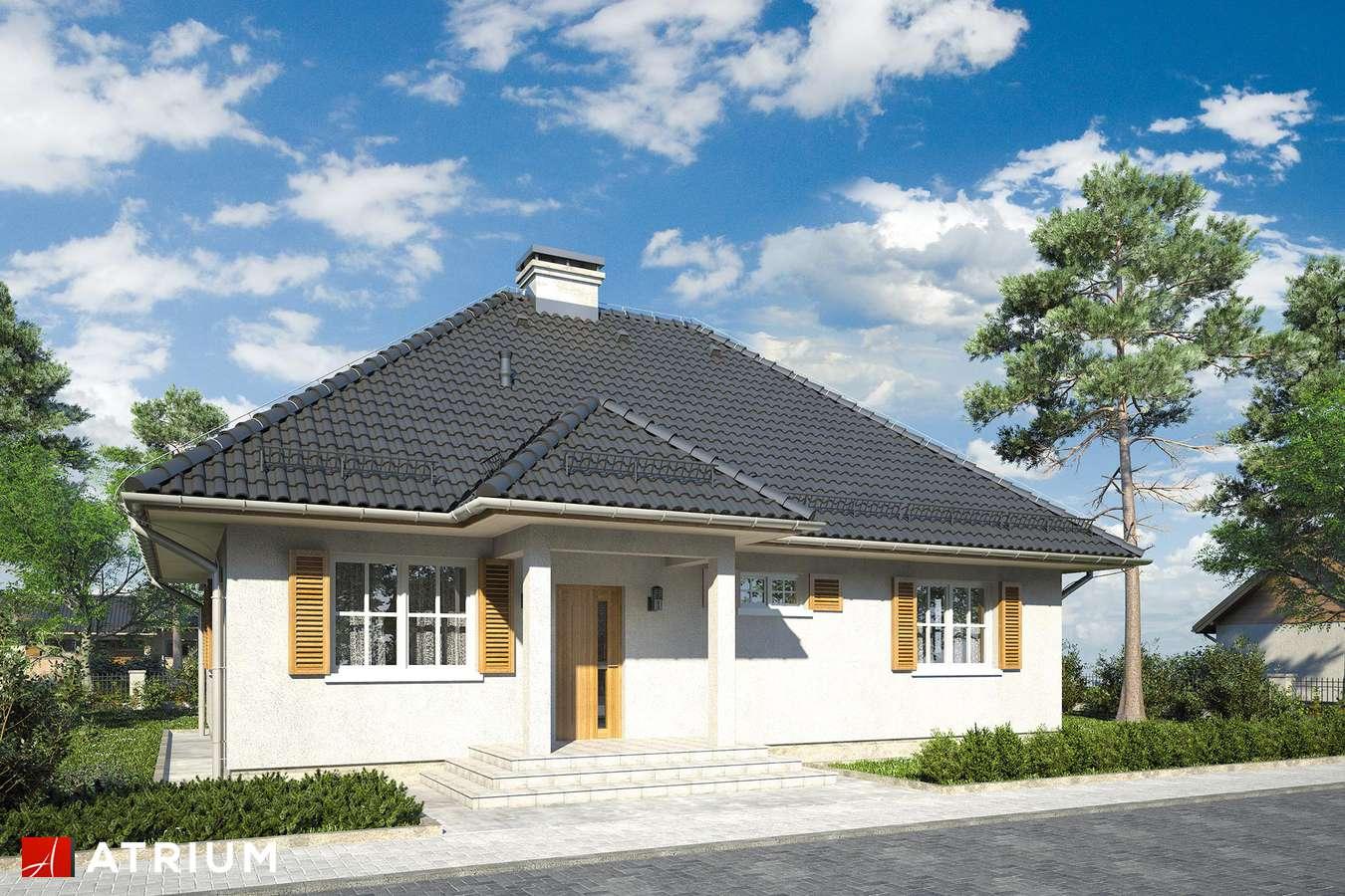 Projekt domu parterowego KACPER - wizualizacja 1
