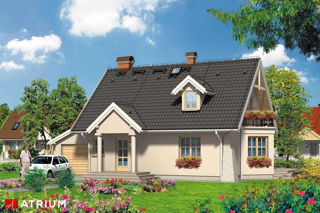 Projekty domów - Projekt domu z poddaszem RUDI - wizualizacja 1