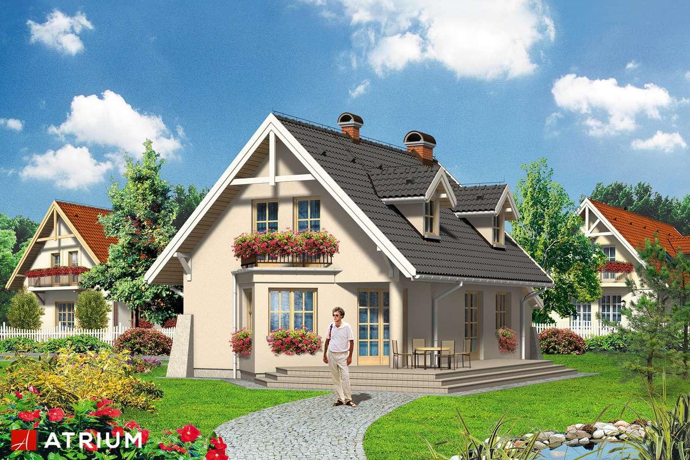 Projekty domów - Projekt domu z poddaszem RUDI - wizualizacja 2