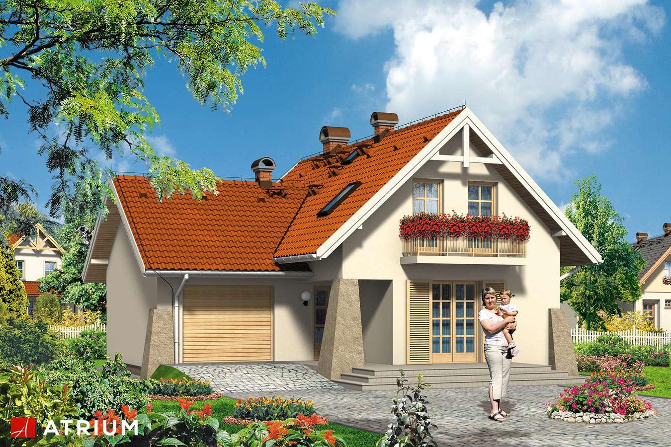 Projekty domów - Projekt domu z poddaszem ŚNIEżKA - wizualizacja 1