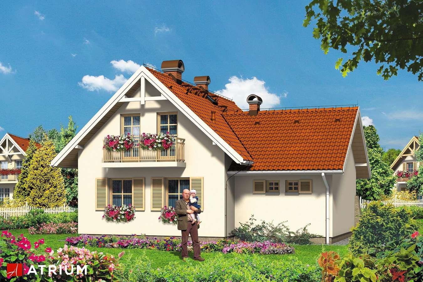 Projekty domów - Projekt domu z poddaszem ŚNIEżKA - wizualizacja 2