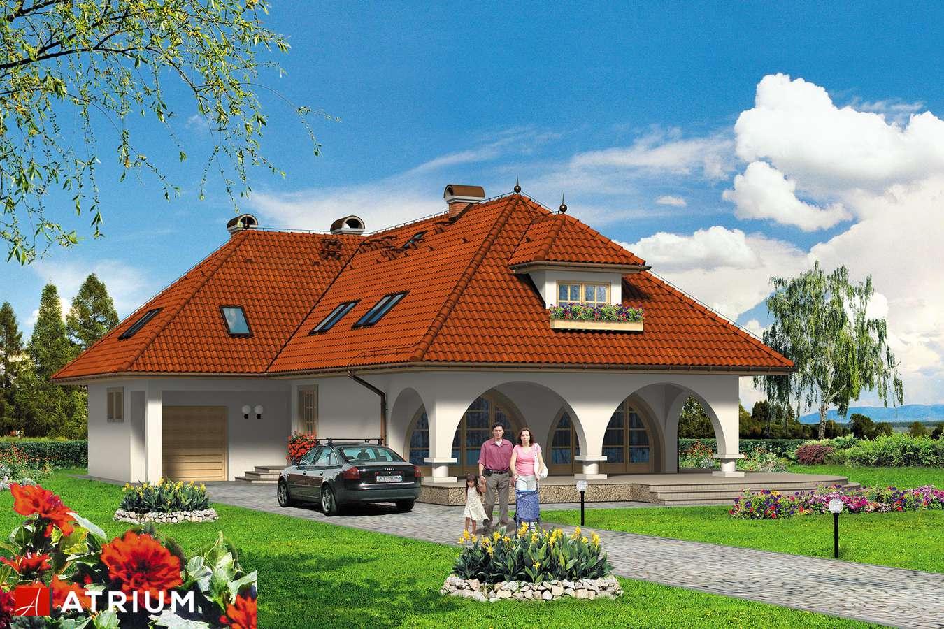 Projekty domów - Projekt domu z poddaszem IDYLLA - wizualizacja 2