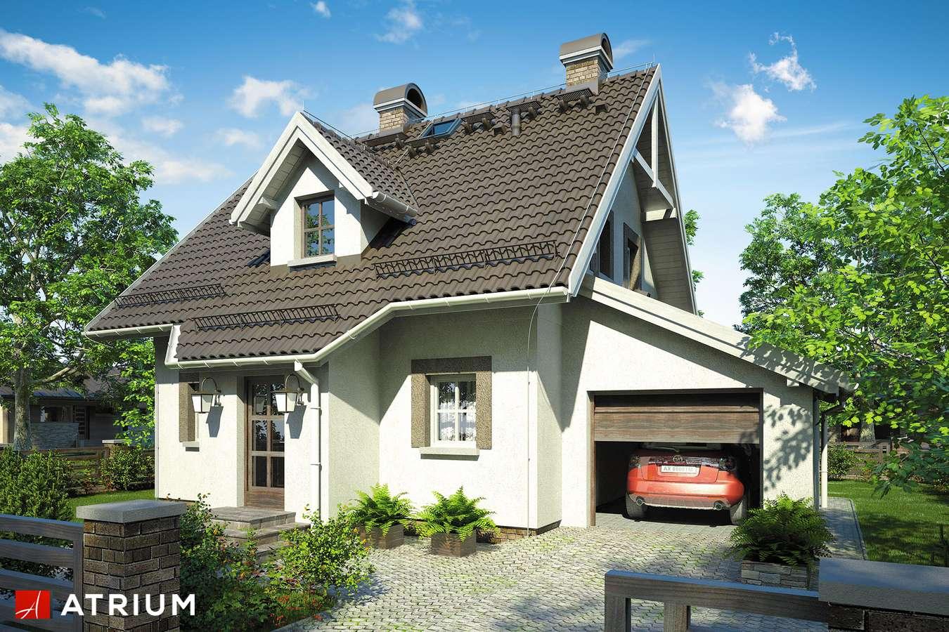 Projekty domów - Projekt domu z poddaszem GWIAZDKA - wizualizacja 1
