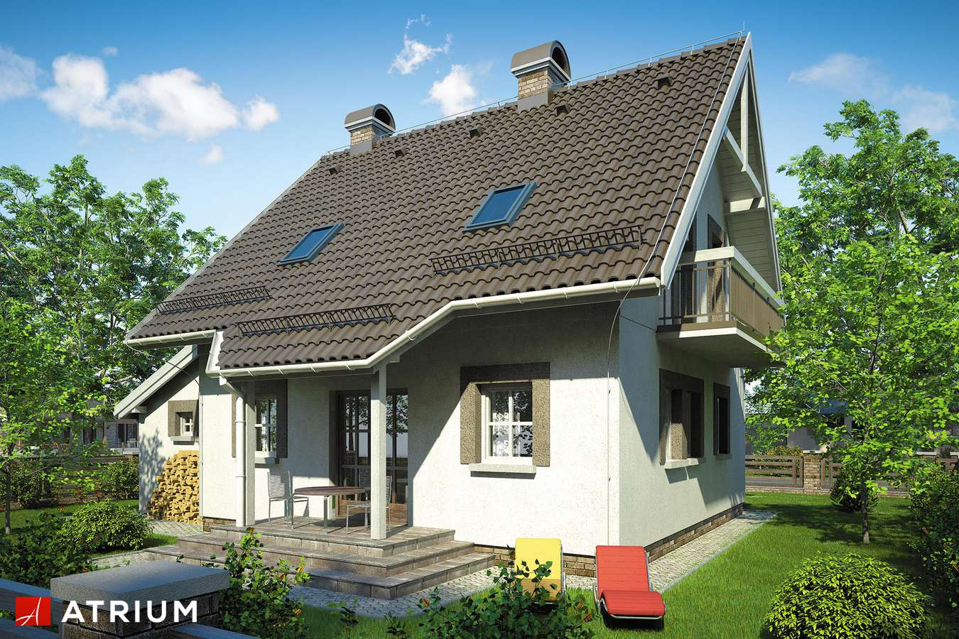 Projekty domów - Projekt domu z poddaszem GWIAZDKA - wizualizacja 2