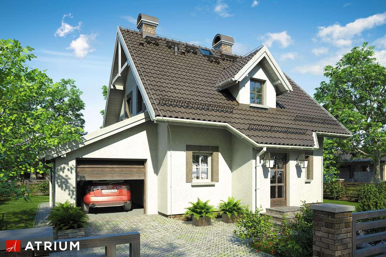 Projekty domów - Projekt domu z poddaszem GWIAZDKA - wizualizacja 1 - wersja lustrzana