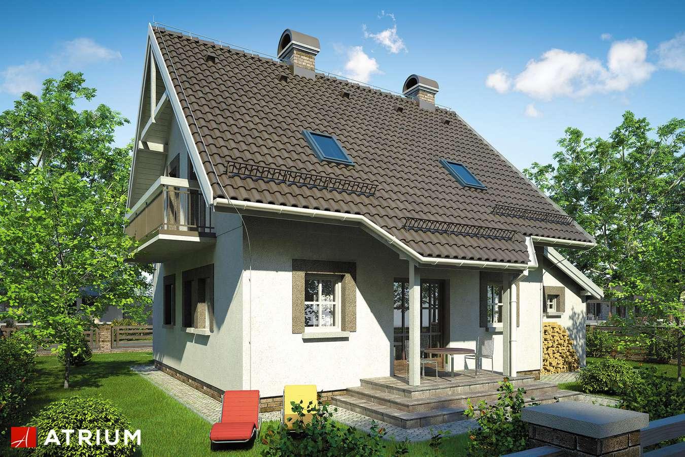 Projekty domów - Projekt domu z poddaszem GWIAZDKA - wizualizacja 2 - wersja lustrzana