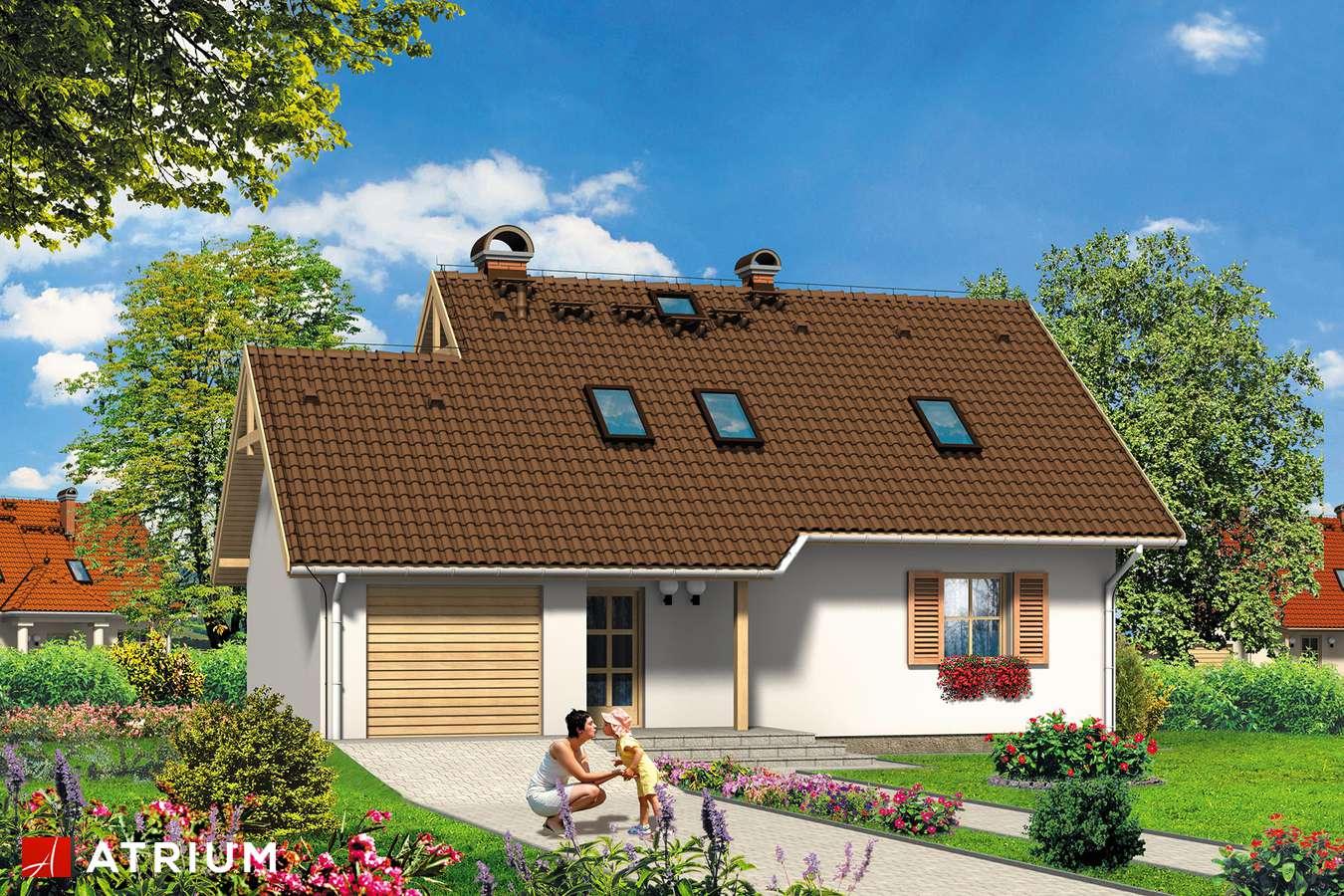 Projekty domów - Projekt domu z poddaszem RELAX - wizualizacja 2