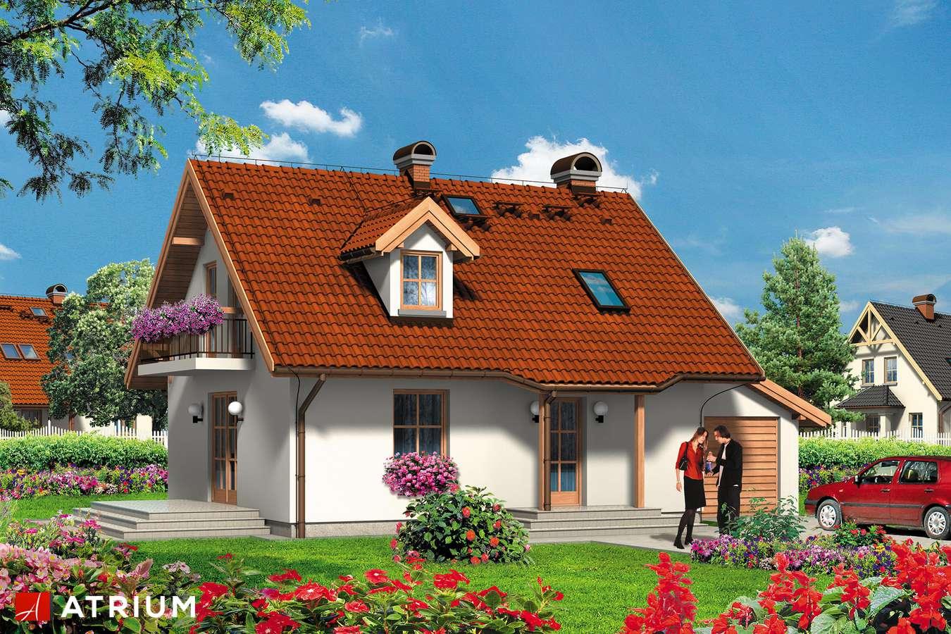 Projekty domów - Projekt domu z poddaszem SANDRA - wizualizacja 1