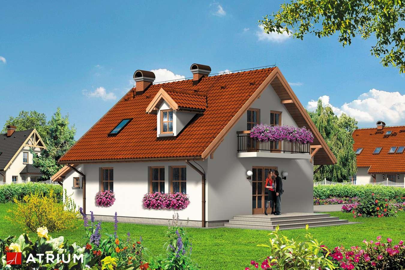 Projekty domów - Projekt domu z poddaszem SANDRA - wizualizacja 2