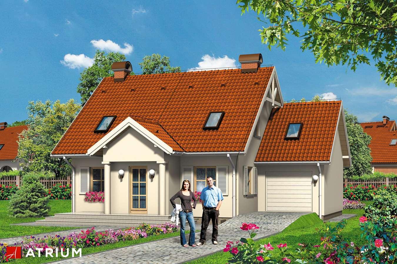 Projekty domów - Projekt domu z poddaszem CICHY KąCIK - wizualizacja 1