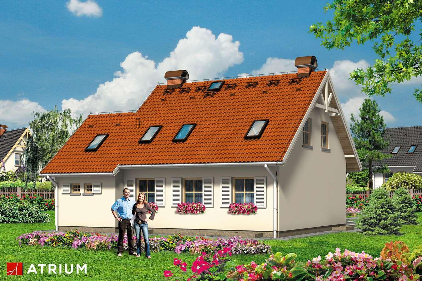 Projekty domów - Projekt domu z poddaszem CICHY KąCIK - wizualizacja 2