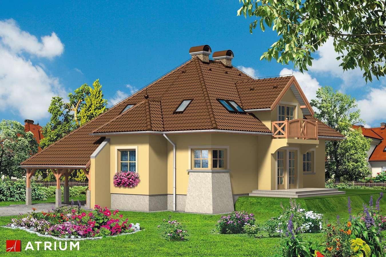 Projekty domów - Projekt domu z poddaszem BALLADA - wizualizacja 1