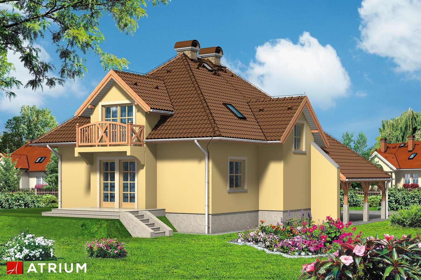 Projekty domów - Projekt domu z poddaszem BALLADA - wizualizacja 2