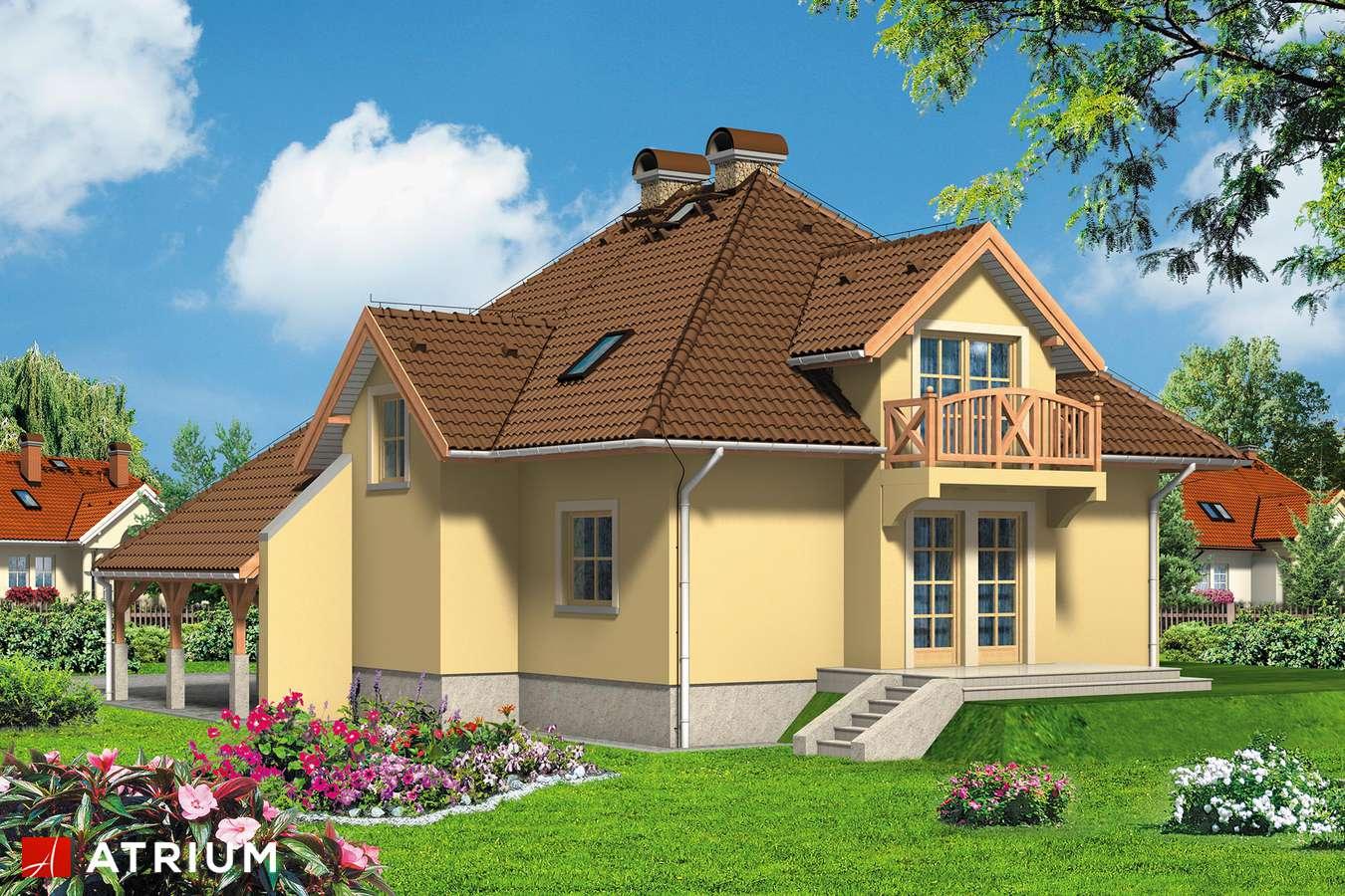 Projekty domów - Projekt domu z poddaszem BALLADA - wizualizacja 2 - wersja lustrzana