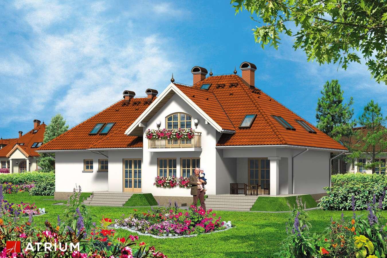 Projekty domów - Projekt domu z poddaszem KMICIC II - wizualizacja 1