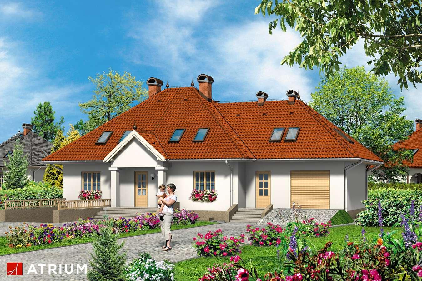 Projekty domów - Projekt domu z poddaszem KMICIC II - wizualizacja 2