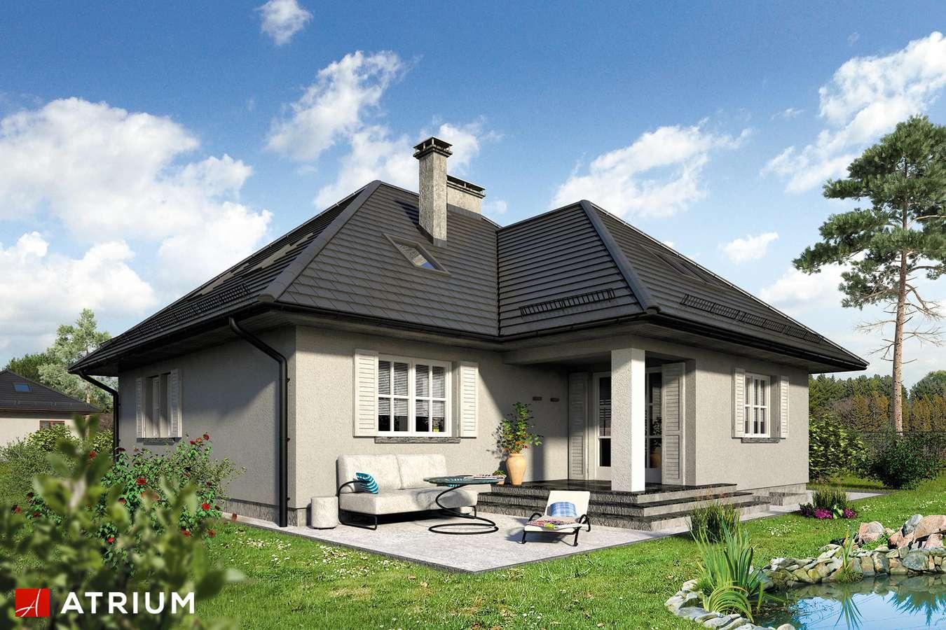 Projekt domu z poddaszem NASZ AZYL - wizualizacja 2