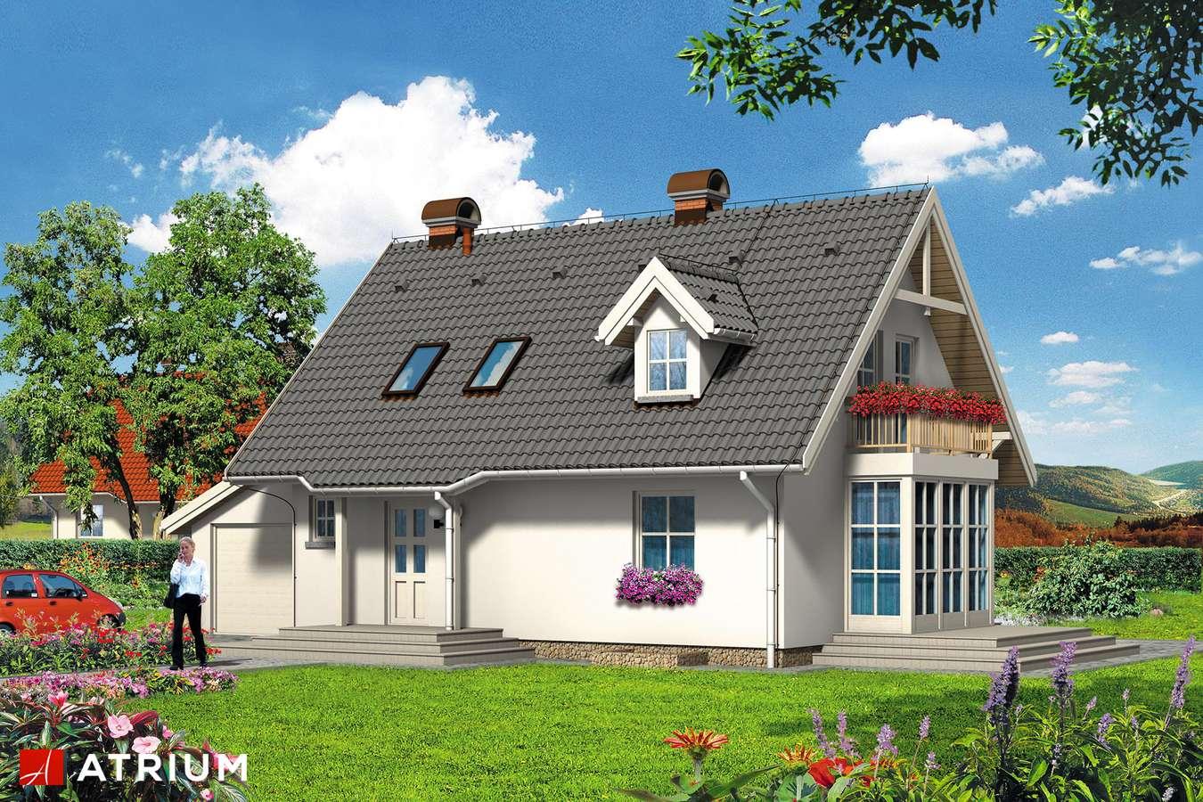 Projekty domów - Projekt domu z poddaszem ZEFIREK - wizualizacja 1