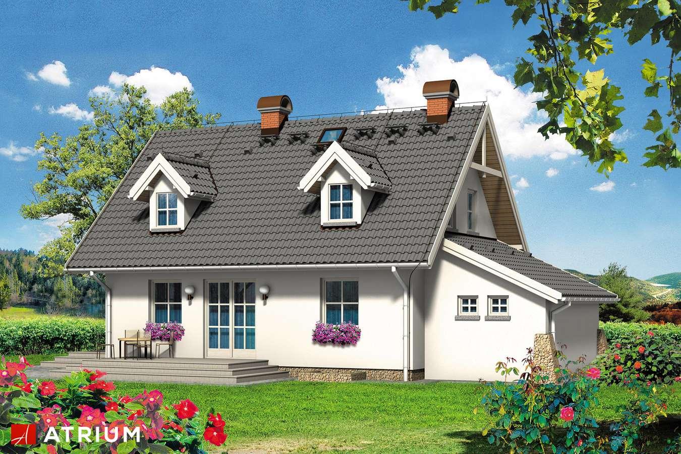 Projekty domów - Projekt domu z poddaszem ZEFIREK - wizualizacja 2