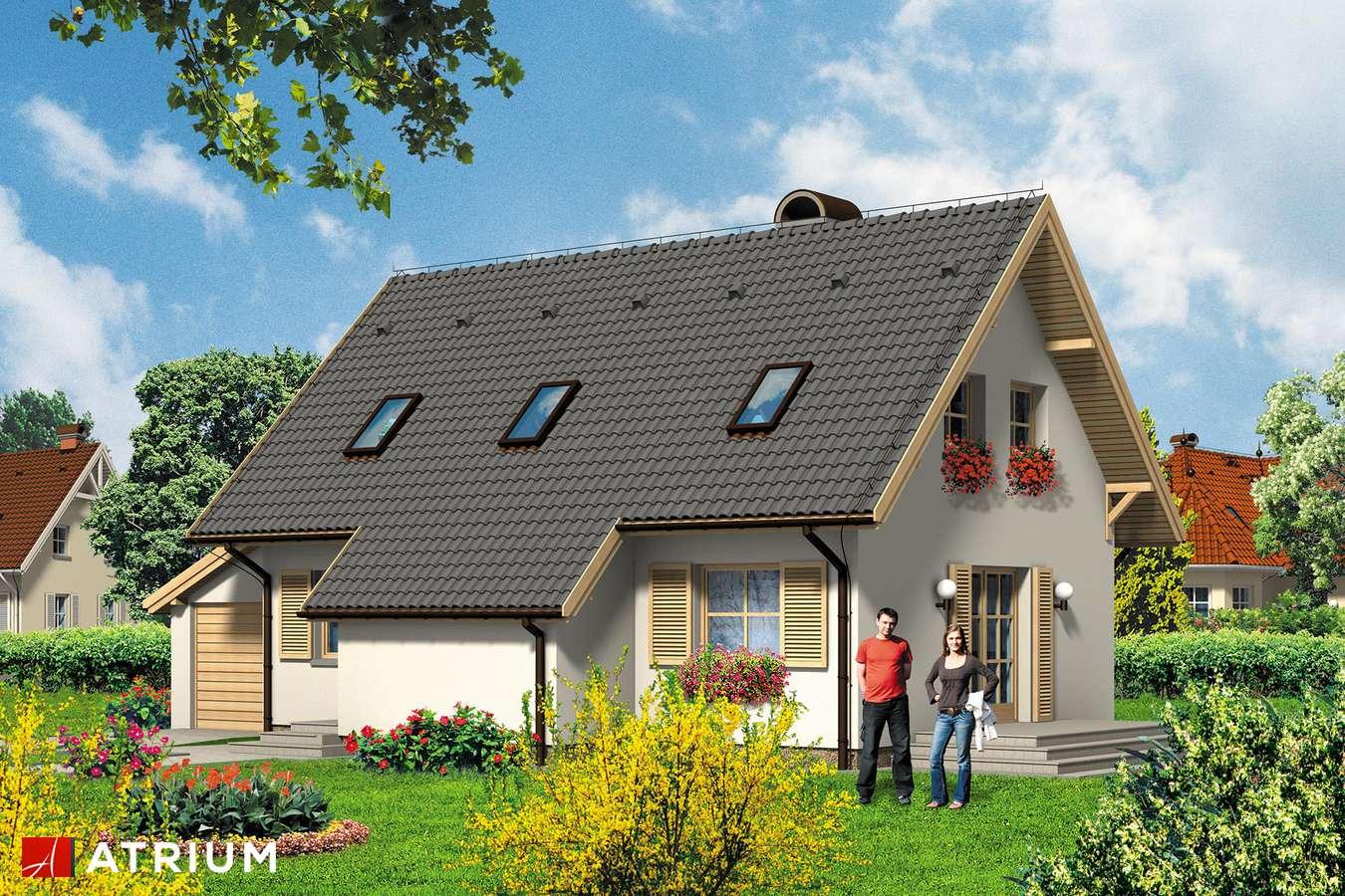 Projekty domów - Projekt domu z poddaszem ZGRABNA BASIA - wizualizacja 1