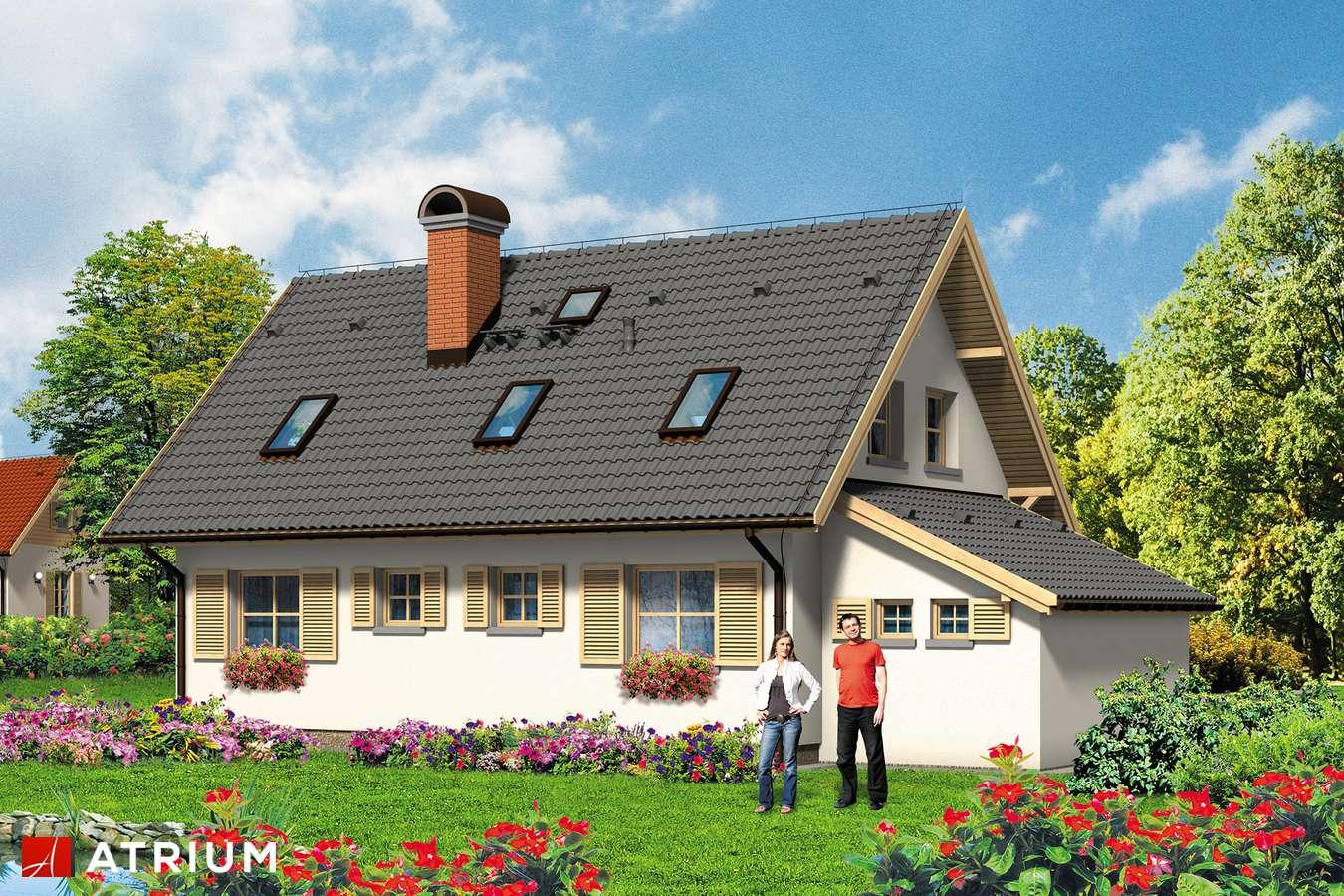 Projekty domów - Projekt domu z poddaszem ZGRABNA BASIA - wizualizacja 2