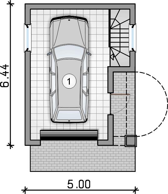rzut garażu - Garaż Z 2