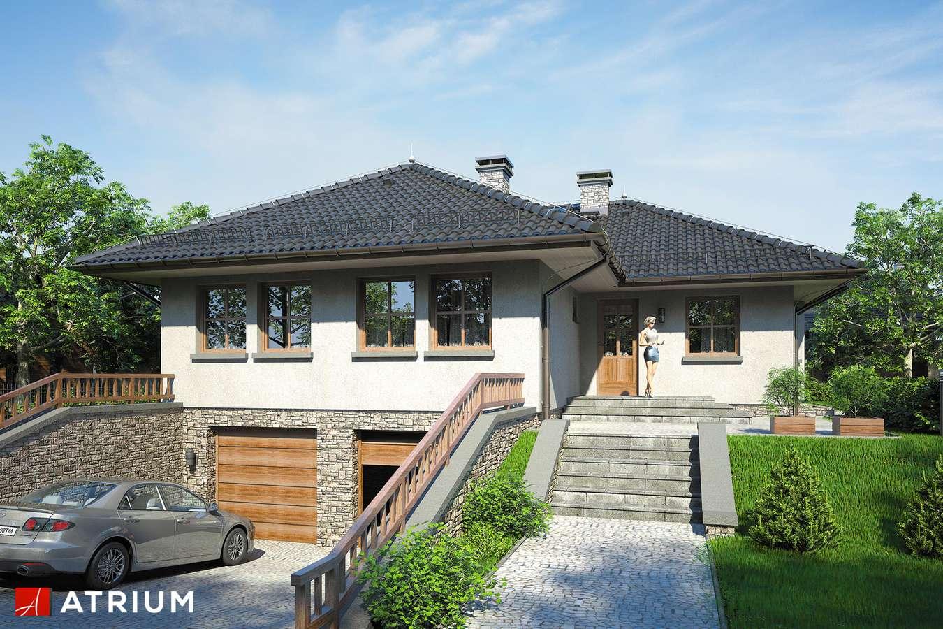 Projekty domów - Projekt domu parterowego GUSTAW - wizualizacja 1