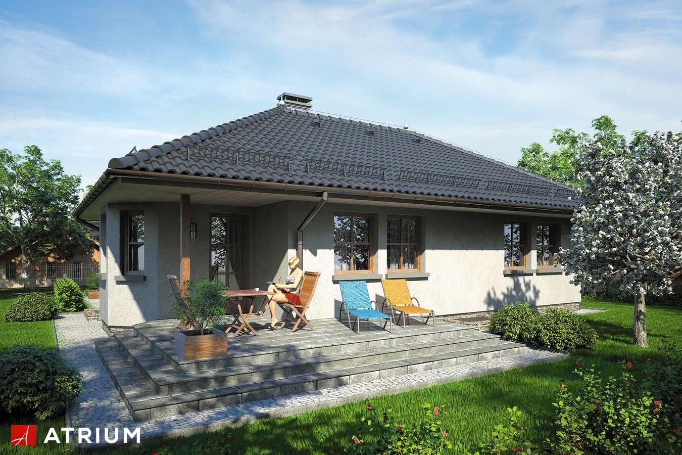 Projekty domów - Projekt domu parterowego GUSTAW - wizualizacja 2