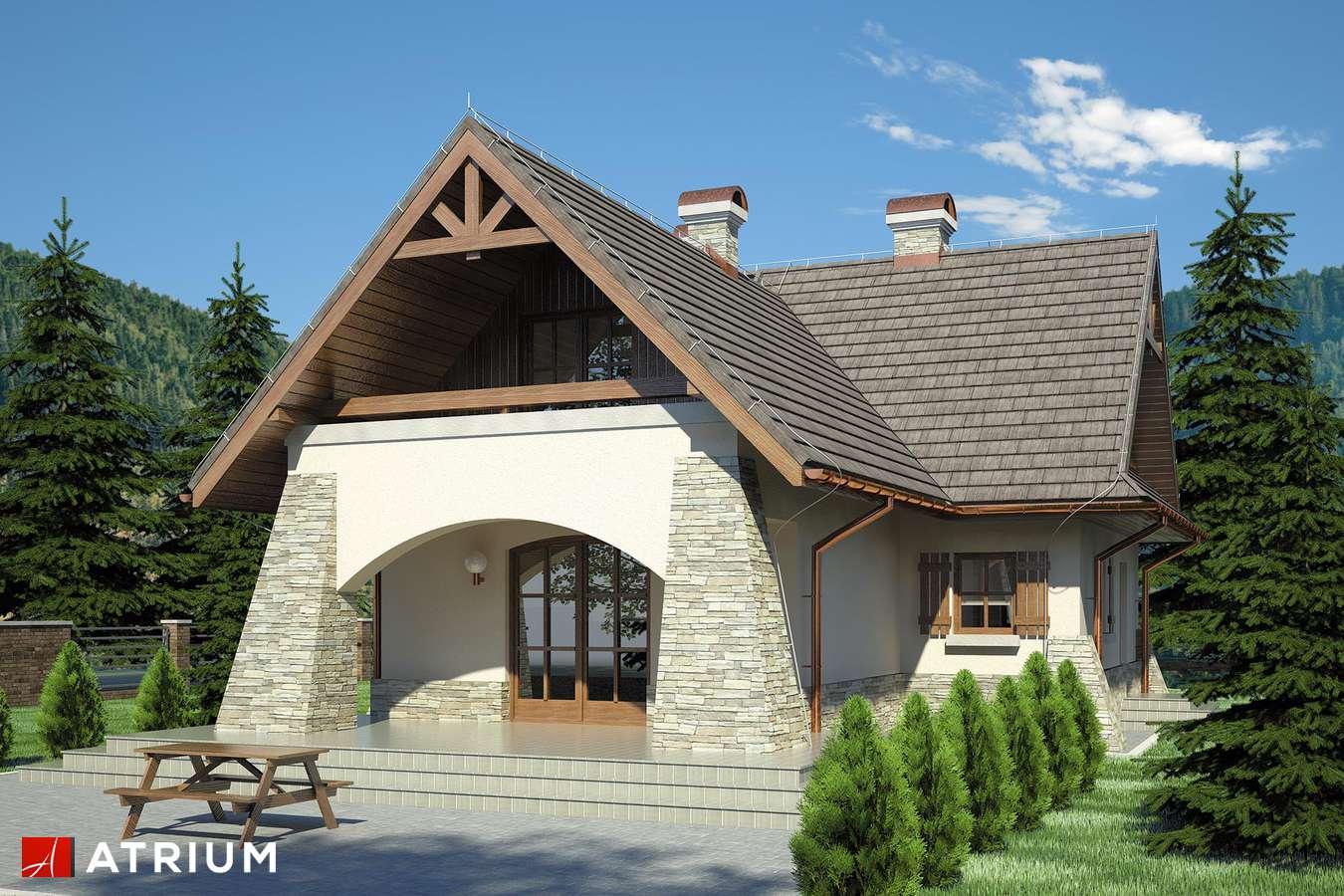 Projekty domów - Projekt domu z poddaszem ONDRASZEK - wizualizacja 2 - wersja lustrzana