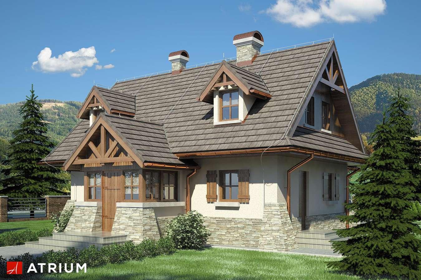 Projekty domów - Projekt domu z poddaszem ONDRASZEK - wizualizacja 1