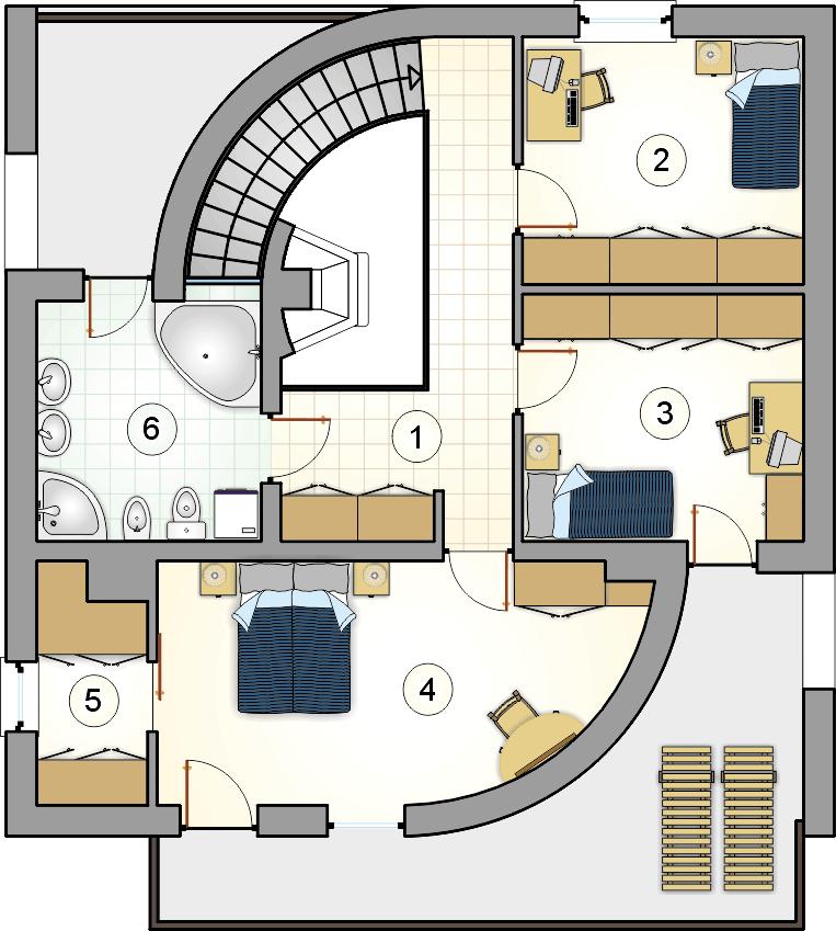 Rzut piętra - projekt Willa Maria