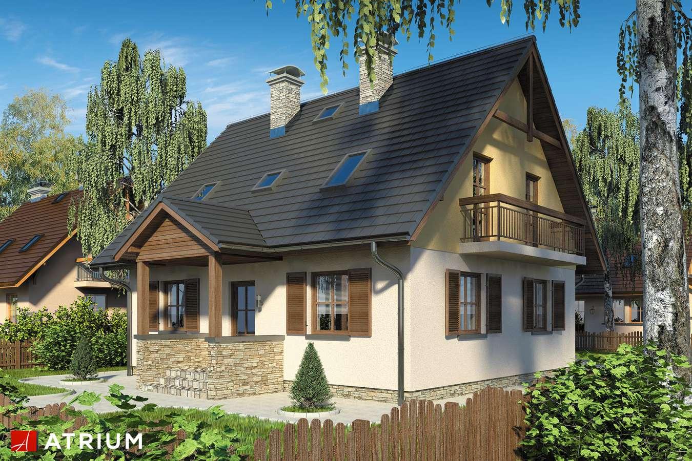 Projekt domu z poddaszem SłODKA ZOSIA - wizualizacja 1