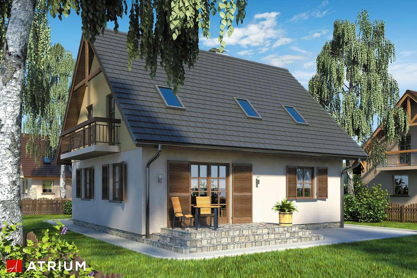 Projekt domu z poddaszem SłODKA ZOSIA - wizualizacja 2