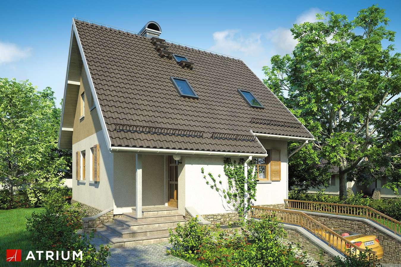 Projekty domów - Projekt domu z poddaszem MIKOłAJEK - wizualizacja 1