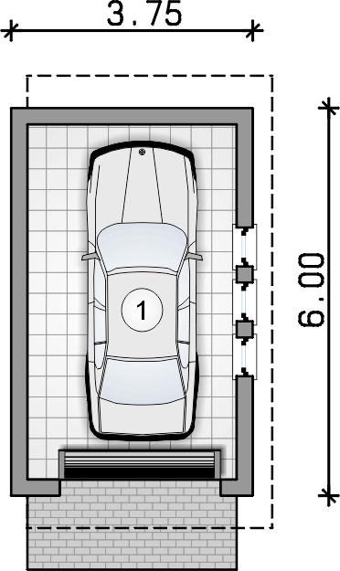 rzut garażu - Garaż Z 14