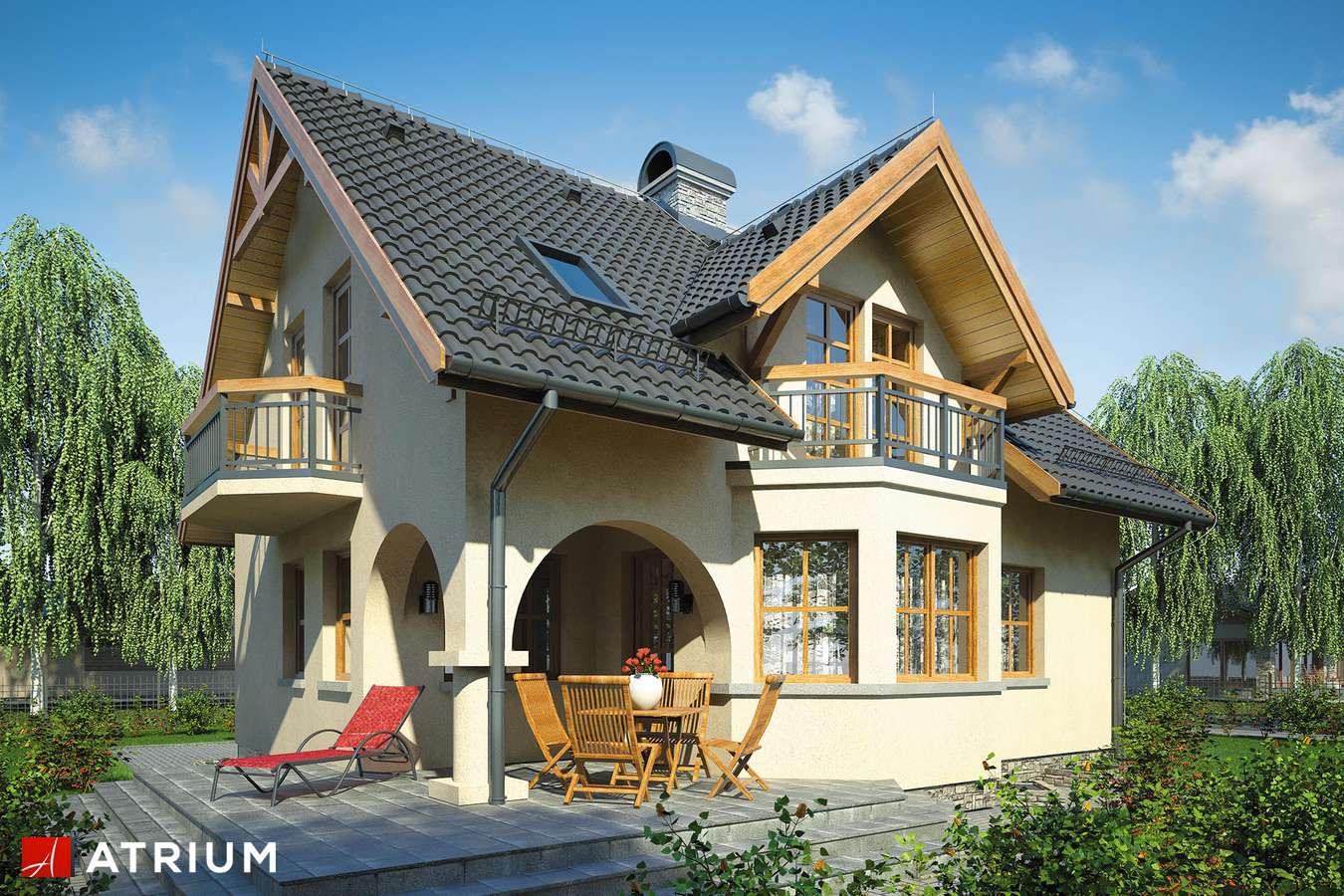 Projekty domów - Projekt domu z poddaszem PERłA - wizualizacja 1