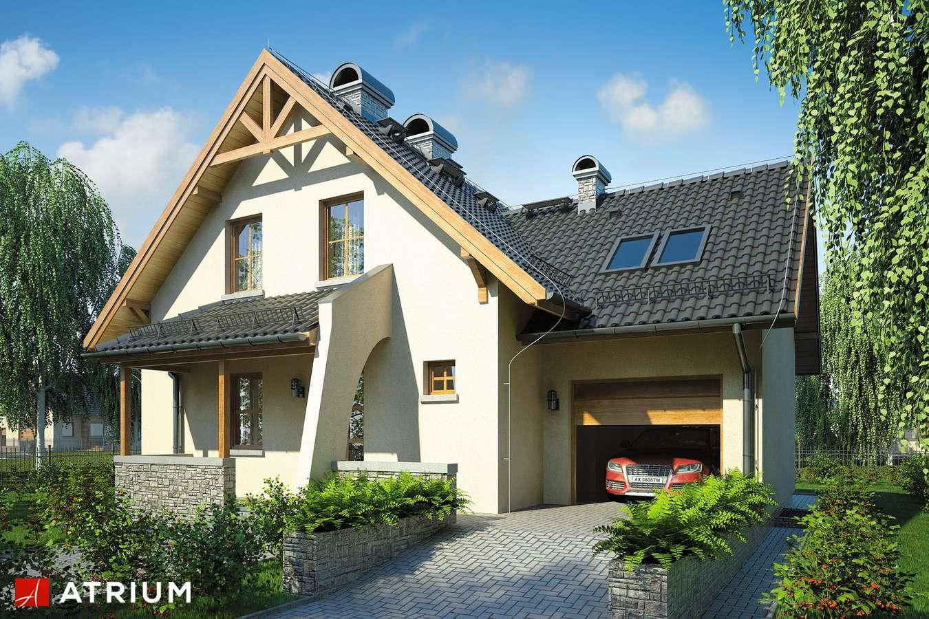 Projekty domów - Projekt domu z poddaszem PERłA - wizualizacja 2