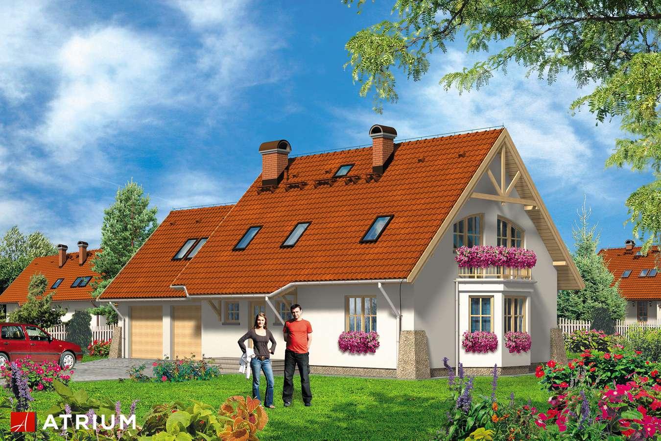 Projekty domów - Projekt domu z poddaszem LUKRECJA - wizualizacja 1