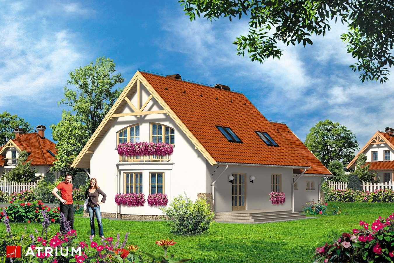 Projekty domów - Projekt domu z poddaszem LUKRECJA - wizualizacja 2