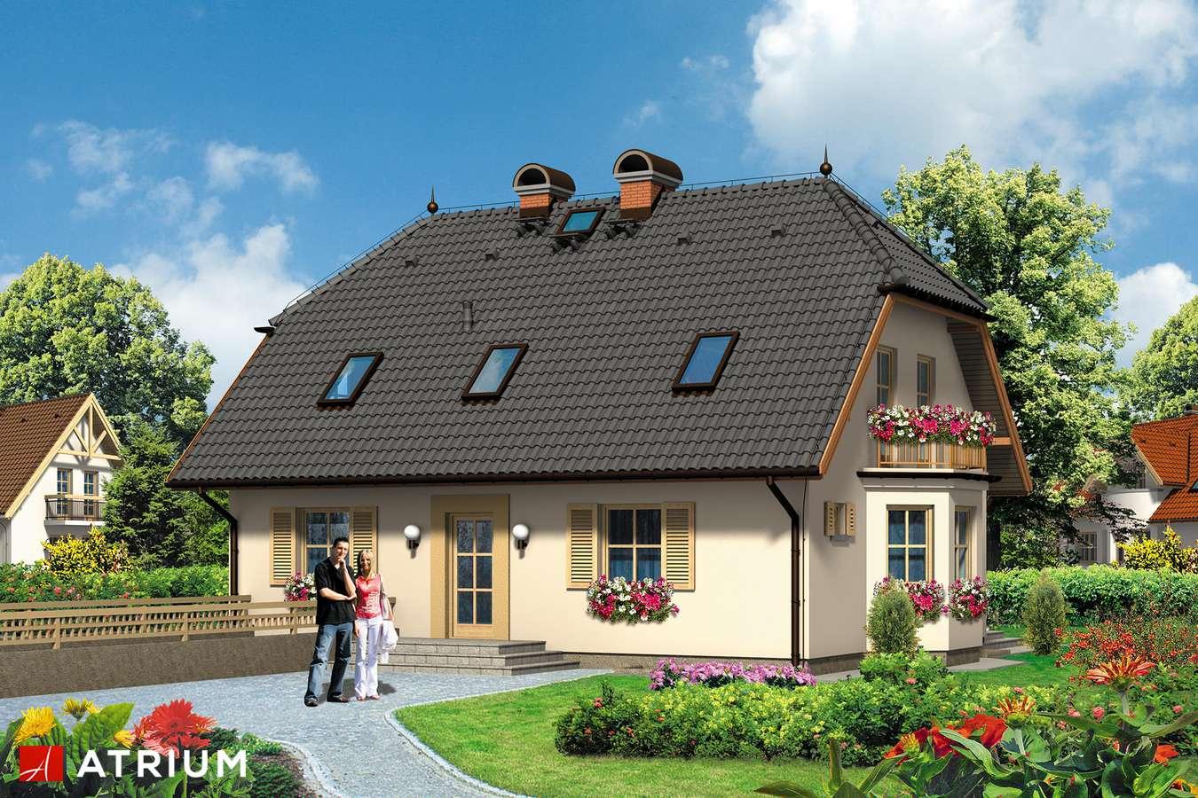 Projekty domów - Projekt domu z poddaszem HELENKA - wizualizacja 1