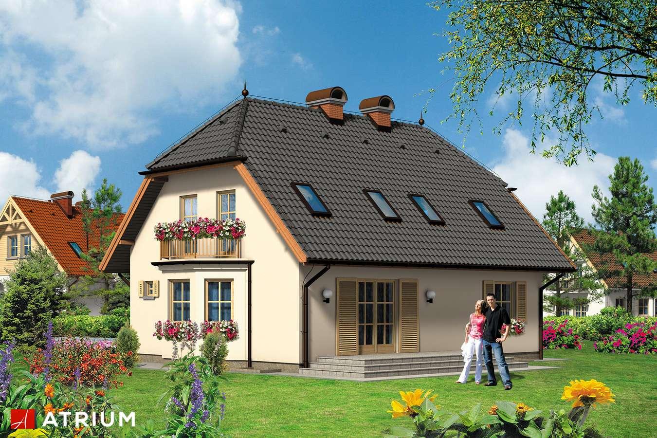 Projekty domów - Projekt domu z poddaszem HELENKA - wizualizacja 2