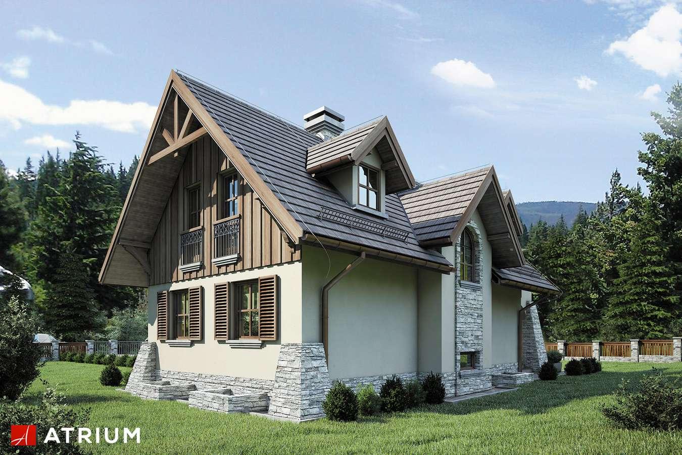Projekty domów - Projekt domu z poddaszem HARNAś - wizualizacja 2