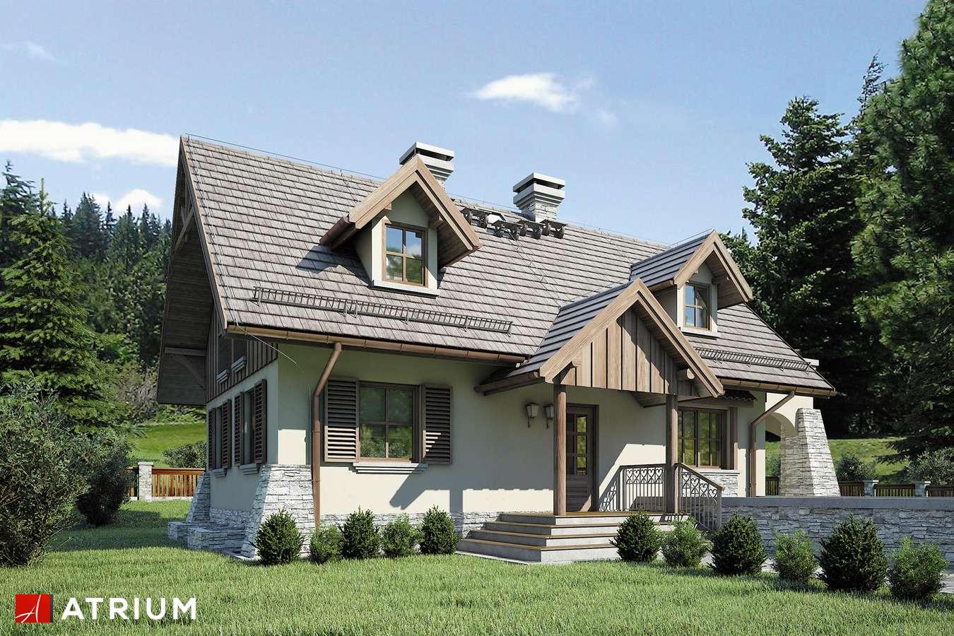Projekty domów - Projekt domu z poddaszem HARNAś - wizualizacja 1 - wersja lustrzana