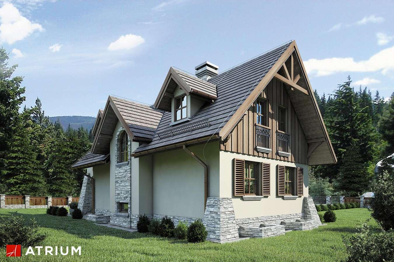 Projekty domów - Projekt domu z poddaszem HARNAś - wizualizacja 2 - wersja lustrzana