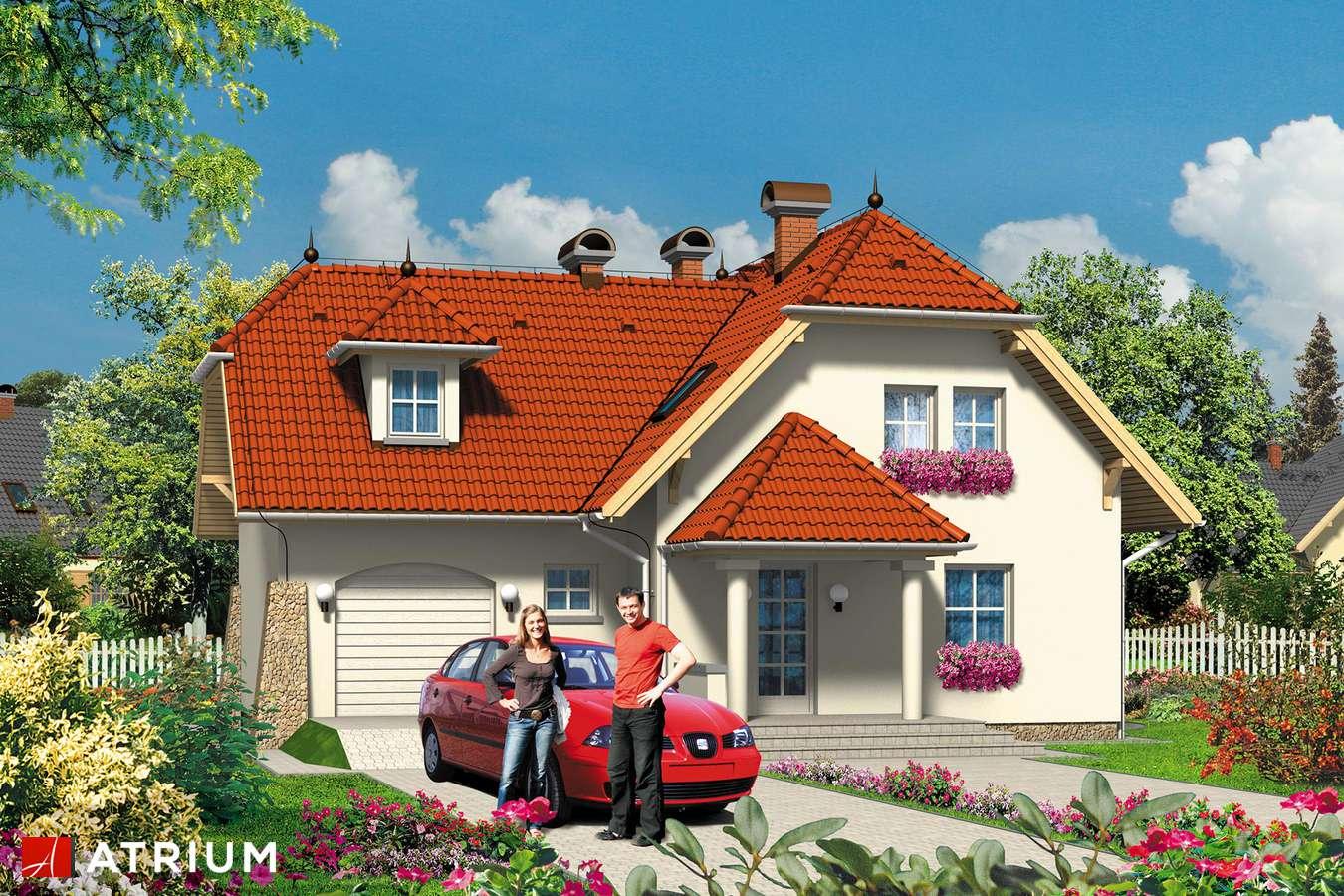 Projekty domów - Projekt domu z poddaszem BARTEK - wizualizacja 2