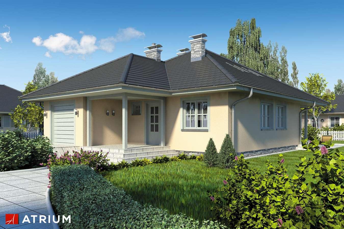 Projekty domów - Projekt domu z poddaszem PELIKAN - wizualizacja 1 - wersja lustrzana