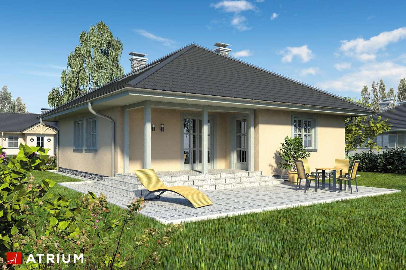 Projekty domów - Projekt domu z poddaszem PELIKAN - wizualizacja 2 - wersja lustrzana