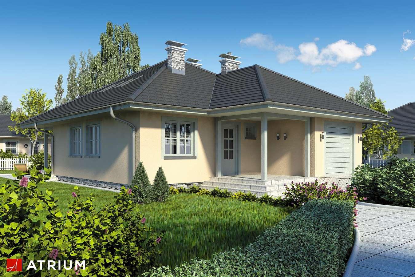 Projekty domów - Projekt domu z poddaszem PELIKAN - wizualizacja 1